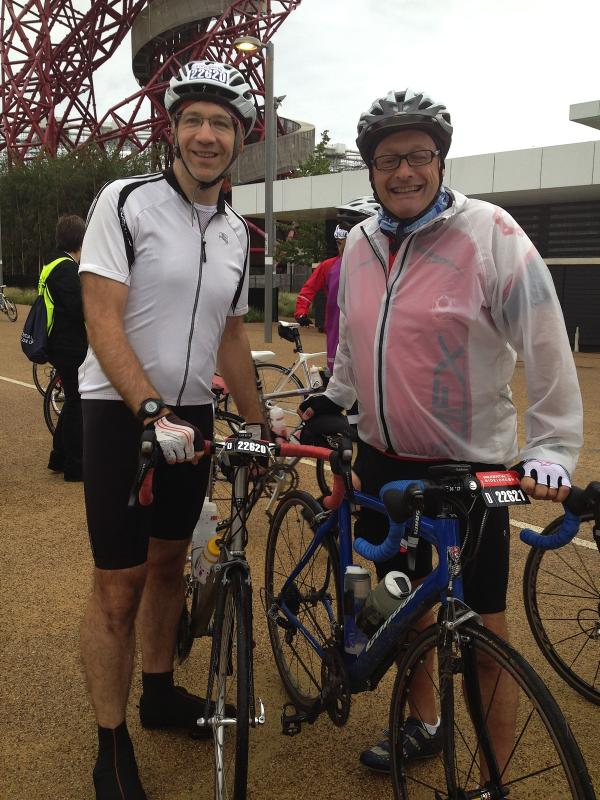Bushey biker battles torrential rain during 100 miles ride for charity