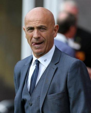 Watford head coach Beppe Sannino during this afternoon's game with Leeds United. Picture: Dave Peters.