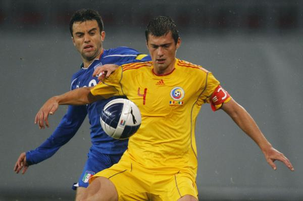 Gabriel Tamas captaining Romania in 2010. Picture: Action Images
