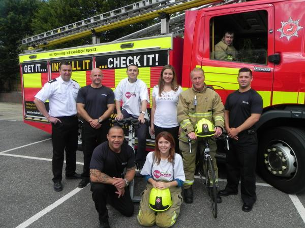 Firefighters from Rickmansworth among volunteers taking part in M25 Cycle Challenge