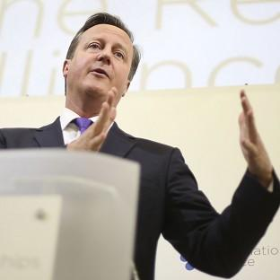 David Cameron has told business leaders that the UK