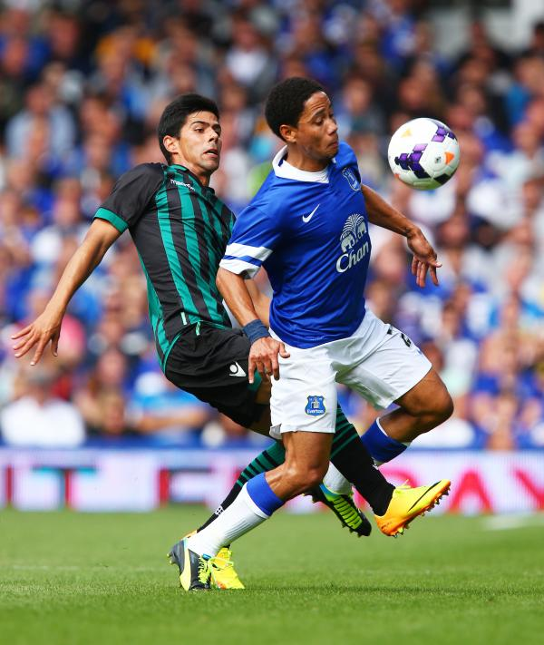 Juanfran during a friendly with Everton in 2013. Picture: Action Images