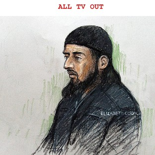 Court sketch of terror suspect Haroon Rashid Aswat , 31, during his extradition hearing in January 2006. Judges have now said he can be extradited to the US
