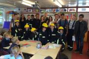 Students from a Rickmansworth school join Hertfordshire's firefighters for work experience