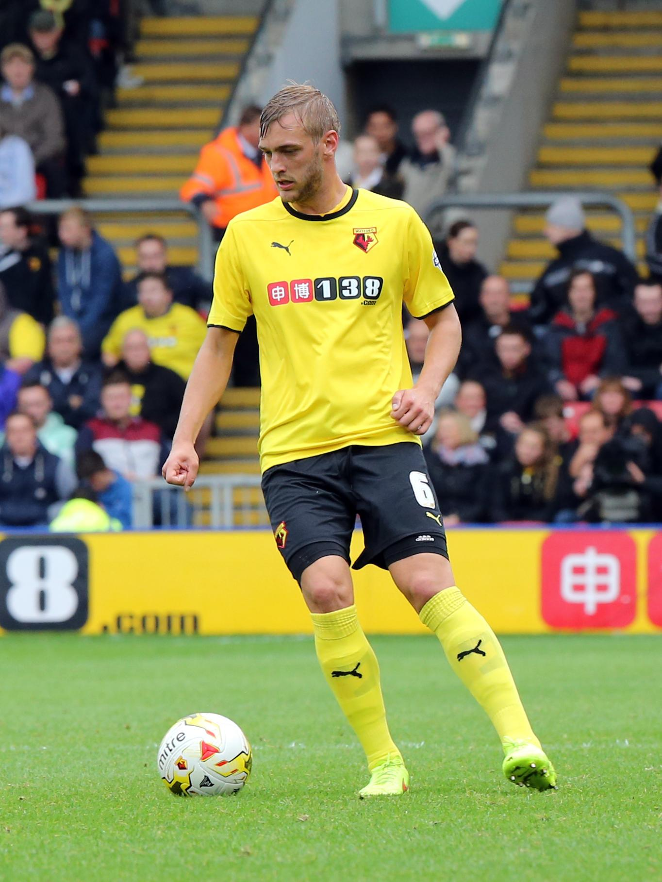 Ekstrand in Watford colours. Picture: Action Images