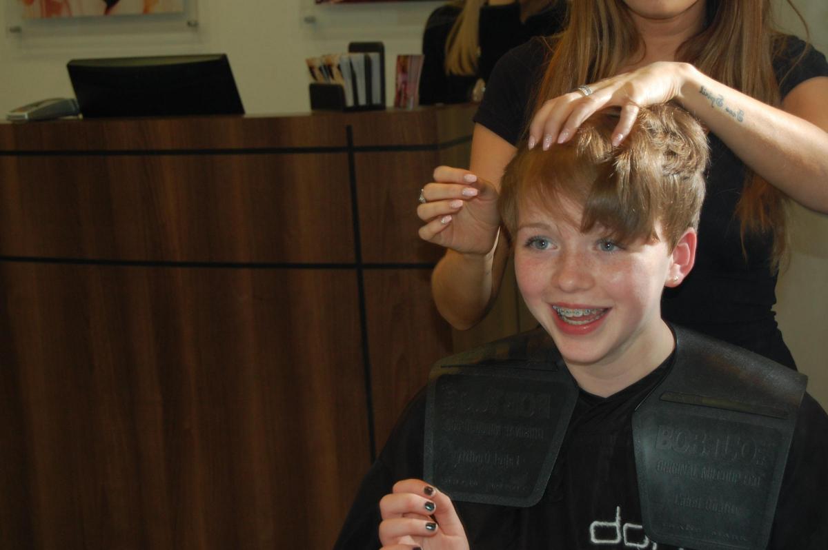Charity Chop Girl Donates Waist Length Hair To Little Princess Trust