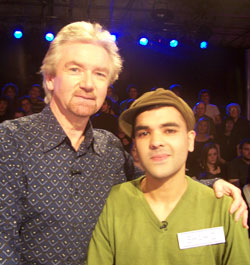 Shahid Khan, from Watford, with Deal or No Deal host Noel Edmonds.
