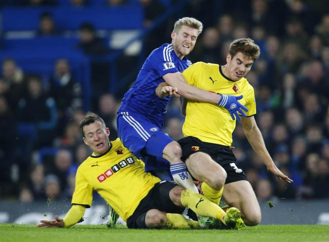 Tommie Hoban challenge Andrew Schurrle during Sunday's game. Picture: Action Images