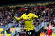 Ighalo celebrates after scoring against Charlton. Picture: Holly Cant