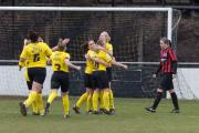 Watford Ladies celebrate Anneka Nuttall's goal. Picture: Andrew Waller