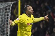 Troy Deeney celebrating his goal against Fulham. Picture: Action Images