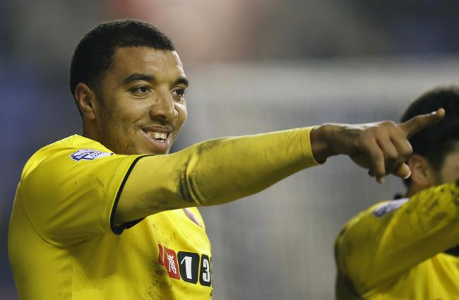 Troy Deeney made it seven goals in six games at Wigan Athletic. Picture: Action Images