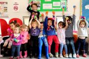 Children part of the Gingerbread Club in Bushey enjoyed an early Easter party this weekend