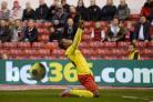 Watford striker Odion Ighalo celebrates his opening goal against Nottingham Forest. Picture: Action Images