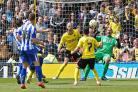 The moment a title slipped from Watford's grasp: Atdhe Nuhiu equalises. Picture: Action Images