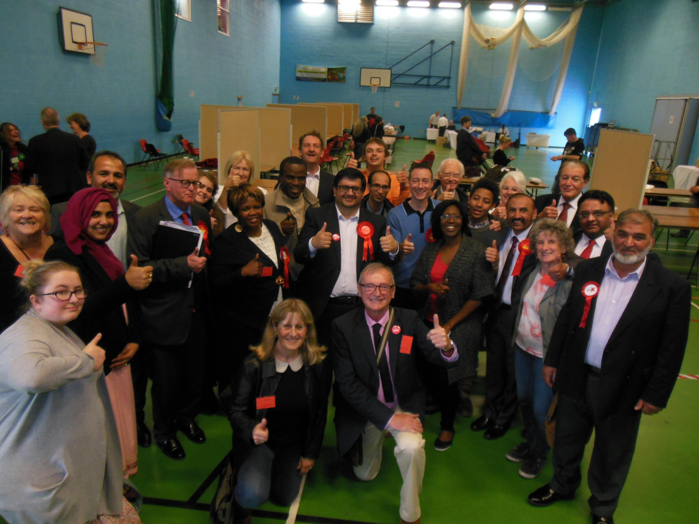 Watford Labour celebrate two gains in today's Borough Council election