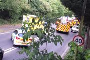 Oxhey Lane closed after person trapped in vehicle following crash