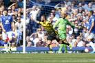 Miguel Layun celebrates scoring at Goodison Park on the opening day of the season. Picture: Action Images