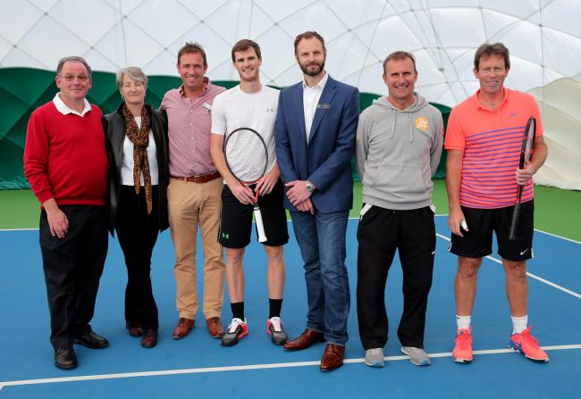 Jamie Murray helped open the new tennis bubble in Northwood: Holly Cant