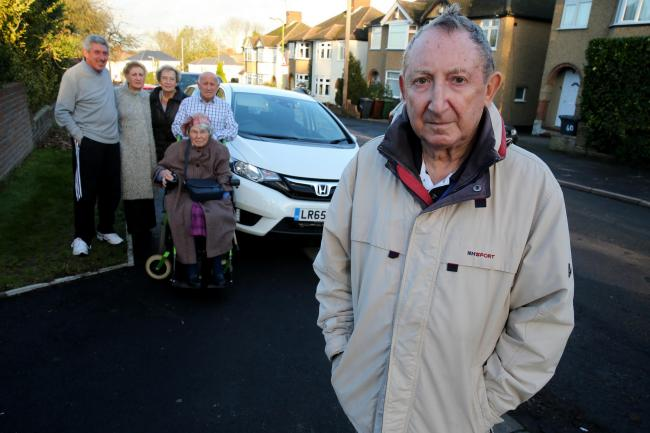 Mike Halper and other neighbours who are campaigning against parking on Melbourne Road