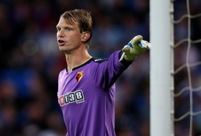 Watford goalkeeper Giedrius Arlauskis is set to complete a loan ...