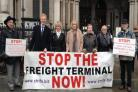 Oliver Dowden MP for Hertsmere with Strife members at high court