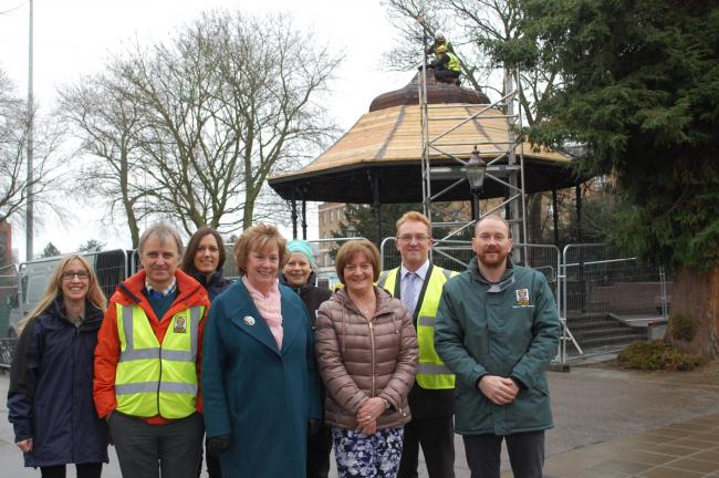 Work to remove the bandstand from its current location started this week