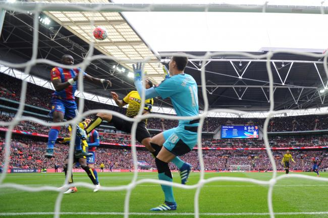 Yannick Bolasie heads an early opener for Crystal Palace: Action Images