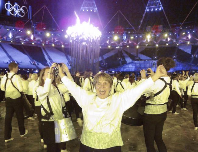 Helen Isaacs at the London 2012 opening ceremony