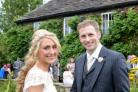 Jason Kenny and Laura Trott as they celebrate their wedding at Hilltop Country House in Cheshire. (Picture: Martin Gardner/Hilltop Country House)