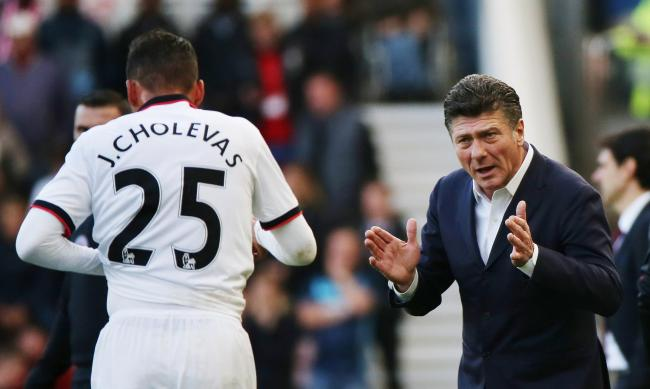 Jose Holebas was seen arguing with Etienne Capoue after the game: Action Images
