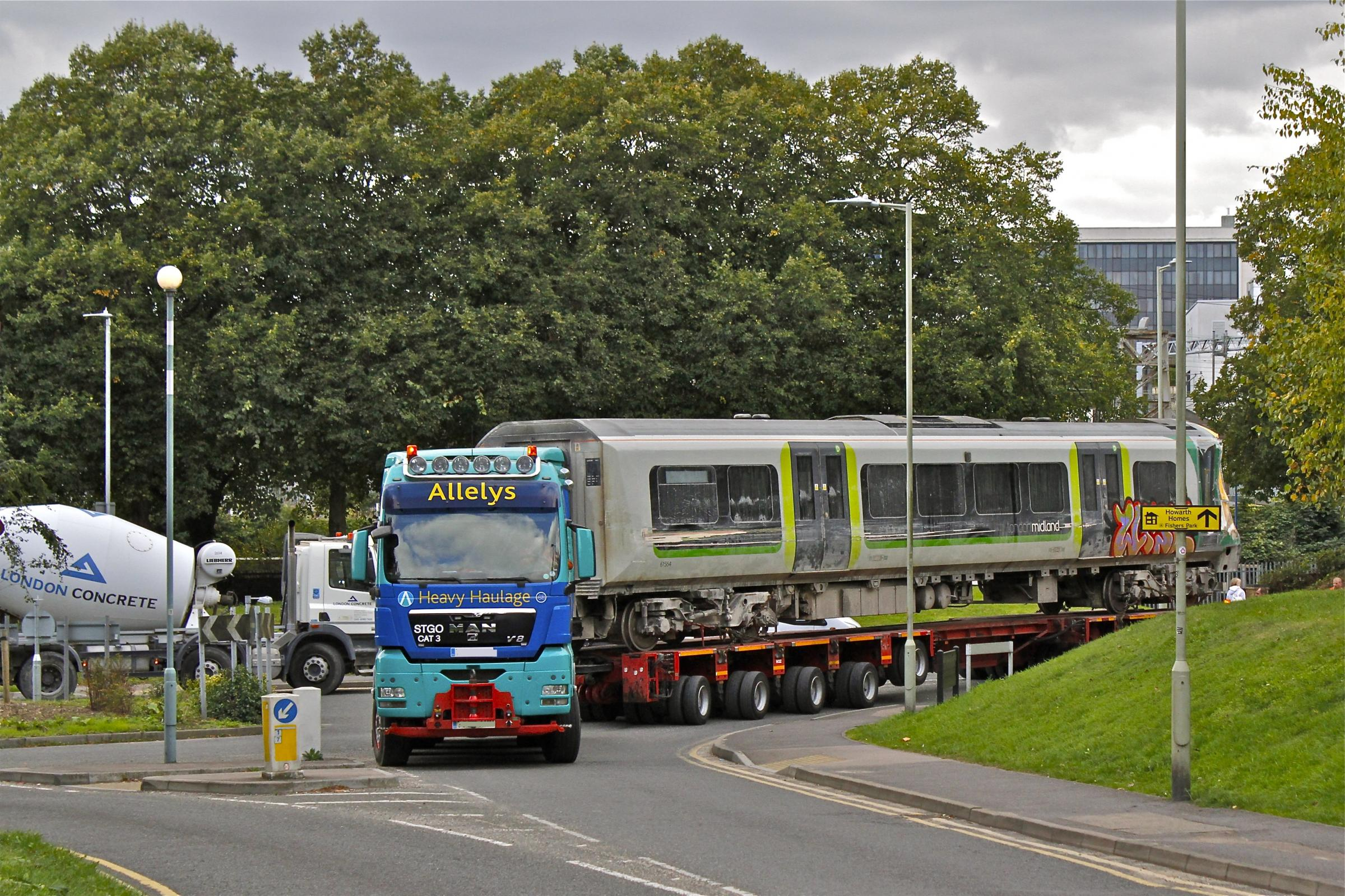 A carriage on its way back to Germany (credit: Christopher George)