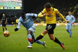 Watford Observer: Watford defender Daryl Janmaat is expected to return from injury within a fortnight