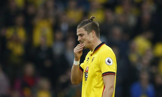 Sebastian Prodl felt Watford deserved more from their Stoke City defeat. Picture: Action Images