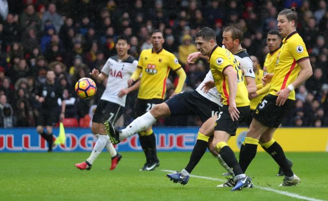 The Hornets were hammered by Tottenham at Vicarage Road: Action Images