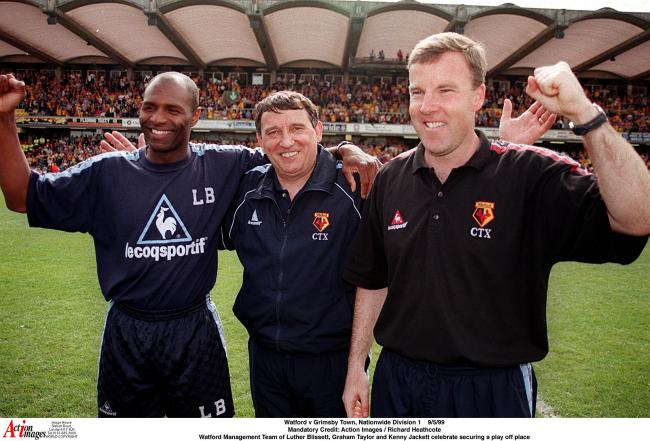 Kenny Jackett pictured with Graham Taylor and Luther Blissett. Picture: Action Images