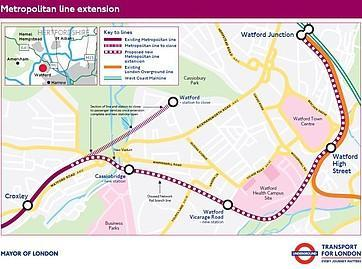 The proposed Metropolitan Line extension