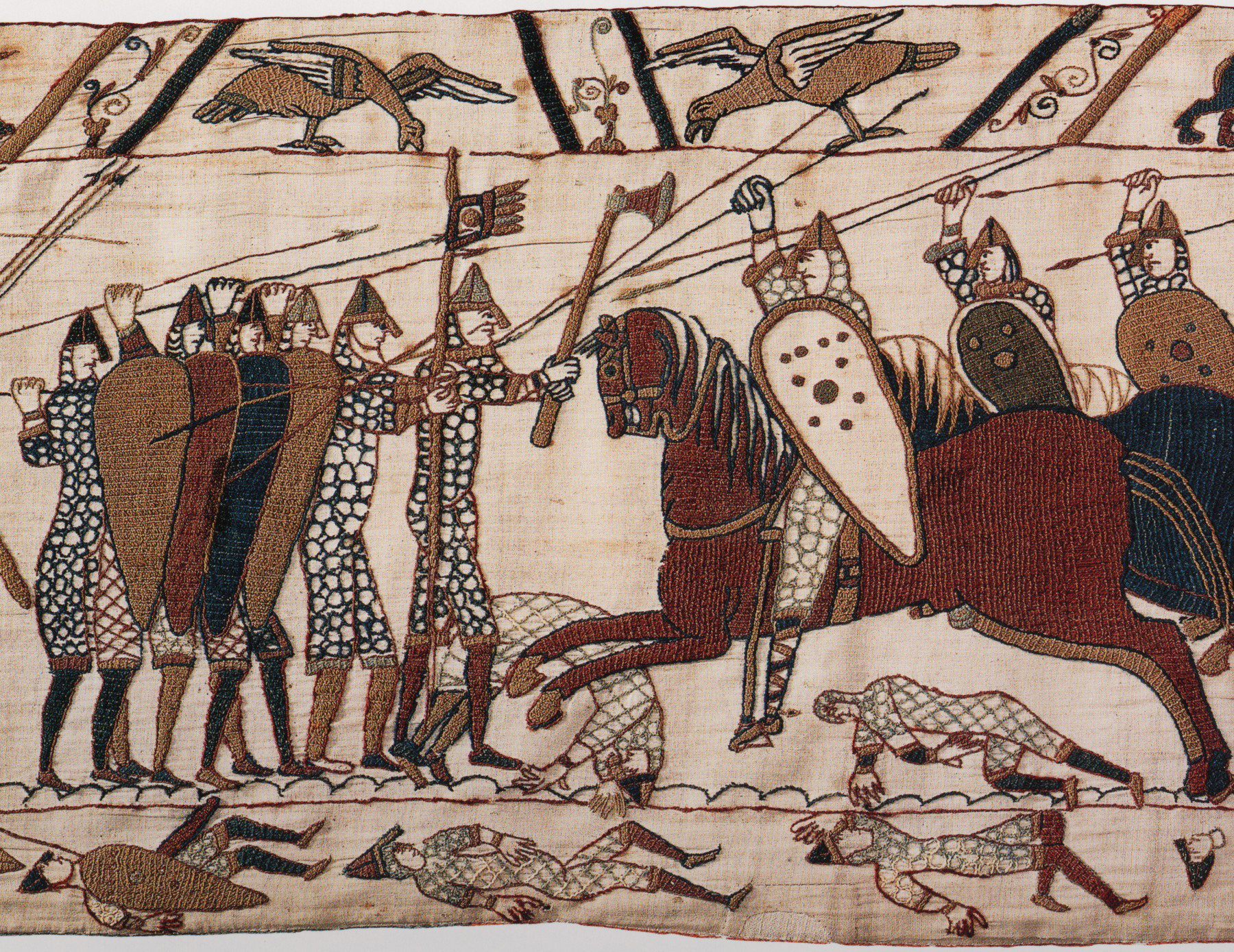 The Bayeux Tapestry shows the Battle of Hastings. Shortly after the battle William the Conqueror ordered the building of Berkhamsted Castle