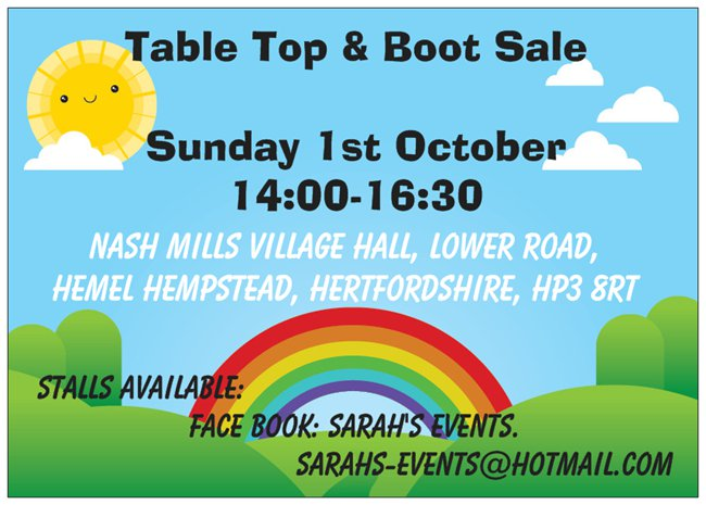Table Top & Boot Sale