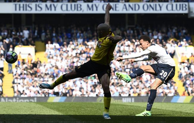 Dele Alli fired Spurs into the lead in spectacular fashion. Picture: Action Images