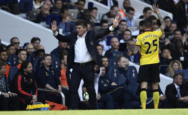 Walter Mazzarri gestures on the touchline. Picture: Action Images