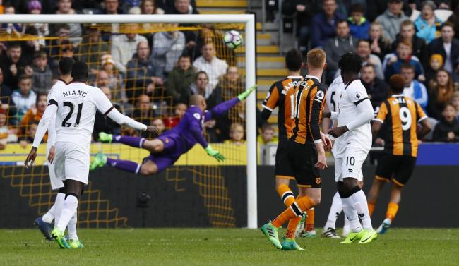 Sam Clucas' stunning strike finds the net to compound Watford'ss misery in Hull. Pictures: Action Images