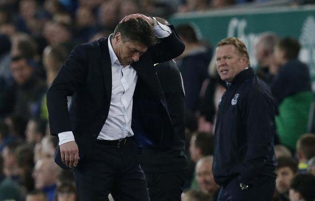 Walter Mazzarri looks distraught during Watford's 1-0 defeat to Everton on Friday - their fourth successive defeat. Picture: Action Images