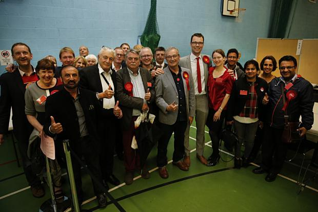Watford Labour at the count on Thursday. Chris Ostrowski came second to Conservative candidate Richard Harrington