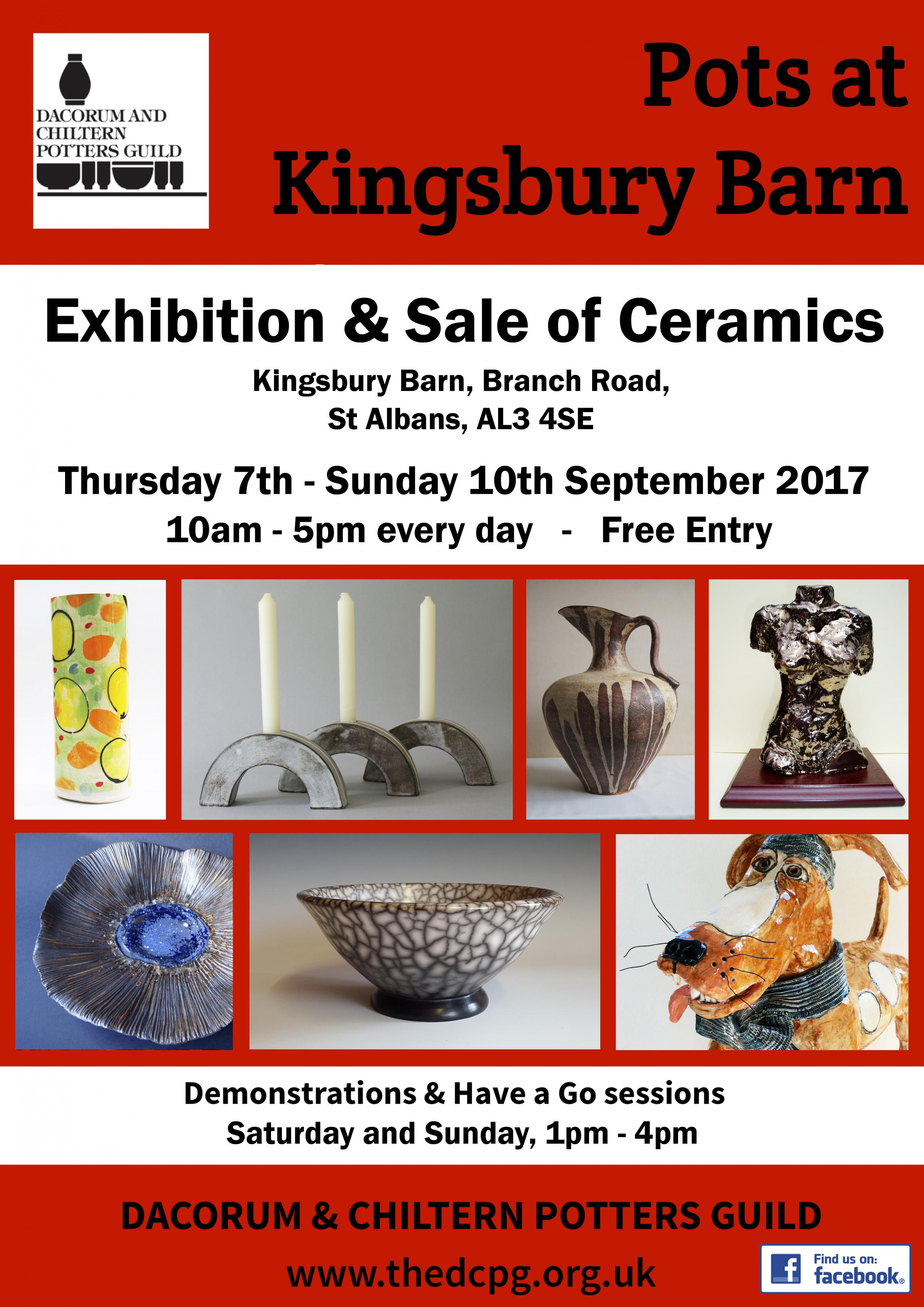 Exhibition and Sale of Ceramics