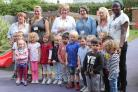 Mayor of Watford Dorothy Thornhill opened the new garden at Oxhey Early Years Centre. Picture by Mel Knibb