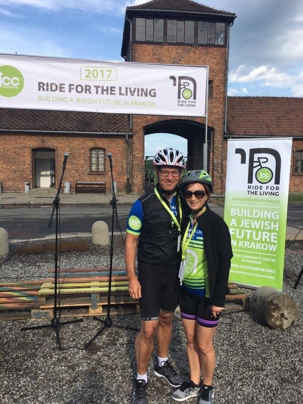 Suzanne and Michael Gould complete the Ride for the Living course from  Auschwitz to Krakow to b2716bc68