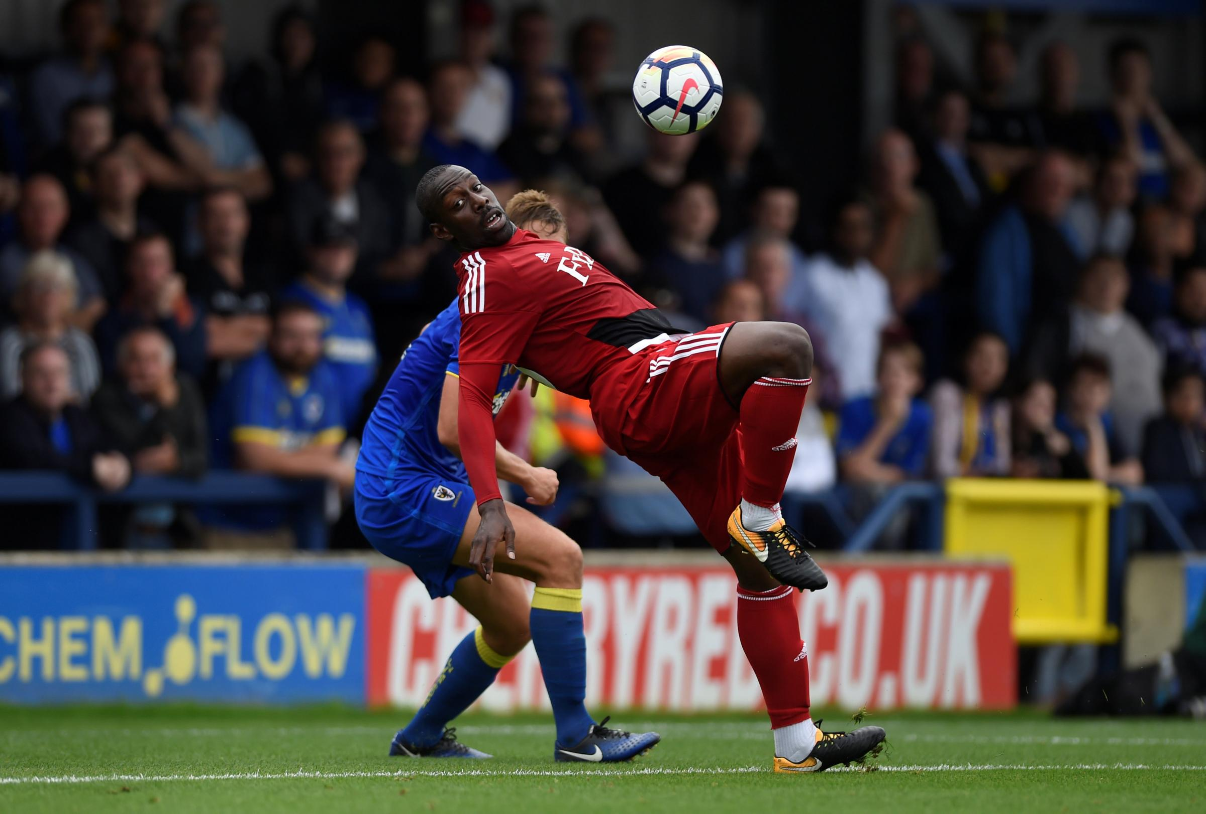 Stefano Okaka tries an acrobatic attempt. Picture: Action Images