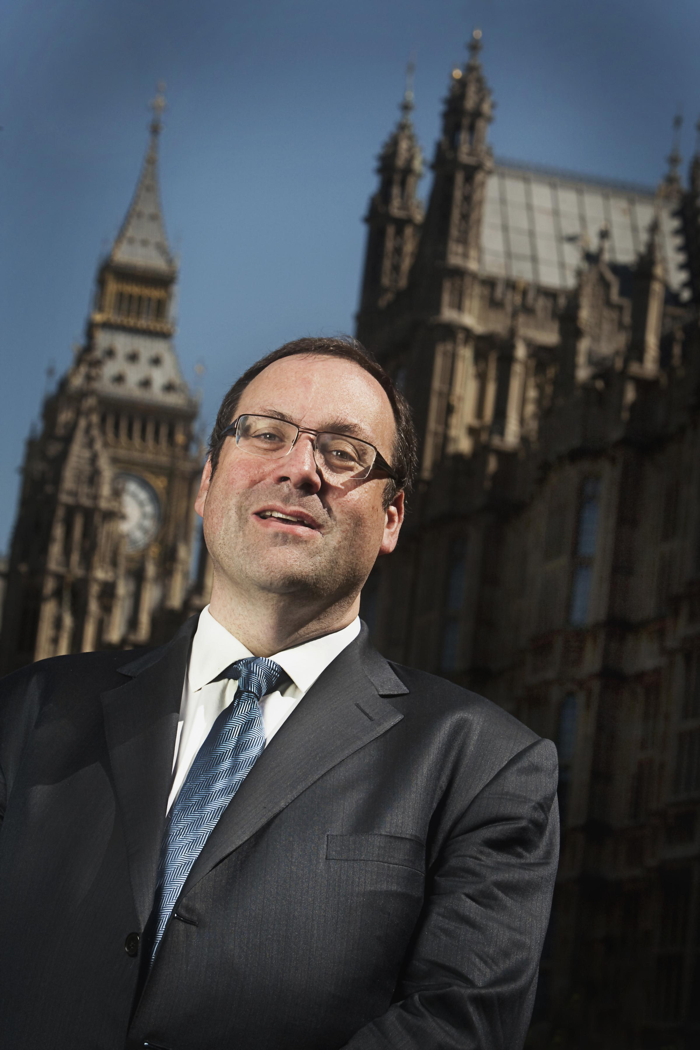 23.5.10..Watford MP Richard Harrington outside the Palace of Westminster..