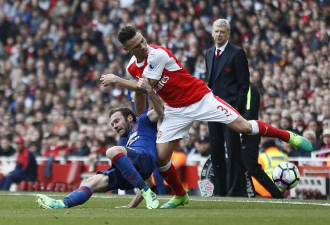 Kieran Gibbs has 230 appearances for Arsenal, but started only eight Premier League games last season. Picture: Action Images